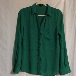 Emerald Green Blouse from The Limited